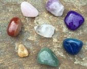 8 Chakra Stones Set, 7 Chakra Stone Set tumbled Stone Set Chakra Gemstones Meditation Stone Set  Reiki Healing stones Chakra Crystal Set