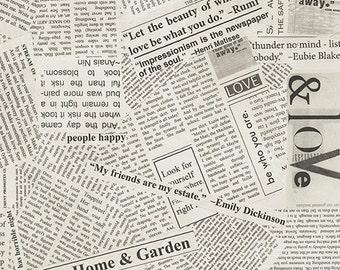 Story Modern Quilt Backs - Newsprint Spackle - Windham (41946-4) - 108-inch Wide