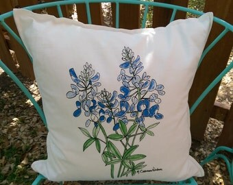 Bluebonnet Pillow cover only