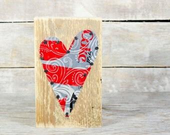 Diet Coke Soda Can Art Heart on Reclaimed Wood