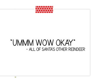Funny Christmas Card- Reindeer Card