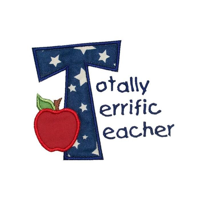 totally terrific teacher appreciation machine embroidery