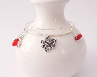 Vampire Girl bangle bracelet