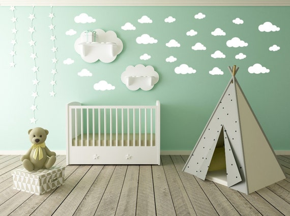 Cloud Wall Decal Clouds Decal Cloud Sticker Kid Wall - Nursery wall decals clouds