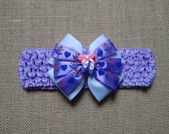 Baby Headband, Ballerina Headband, Purple Headband, Baby Girl Headband, Baby Hair Accessory, Ballerina Hairbow, Girls Hairbow, Dance Hairbow