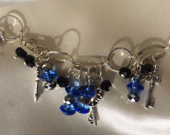 Blue Dangle Bracelet
