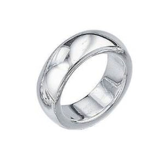 solid silver heavy finger of thumb ring