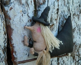 Primitive WITCH_Rustic style_primitive halloween decor_primitive country decor_Halloween Witch Wall Hanging_rustic decor_halloween primitive