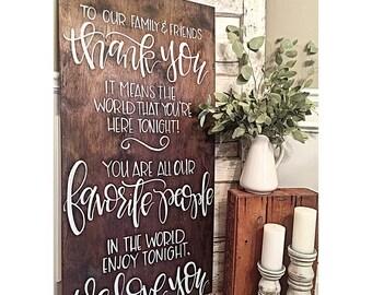 2' x 4' Rustic Wooden Wedding Sign