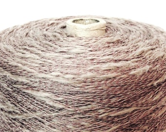 Weaving Yarn  Taupe LINEN 2.4 Lbs.   KNITTING - WEAVING - Crochet -Yarn on Cone to Weave