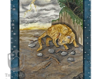 Ten of Sky, (Swords) Giclee Print, from Mystical Cats Tarot