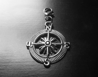 Compass Dangle/Charm for Floating Lockets, Necklace, or Bracelets-Gift Idea