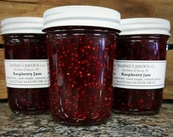 Small Batch Handmade B&P's Classic Raspberry Jam - Set of Three