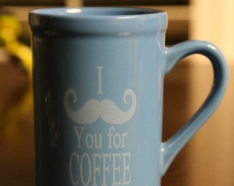 I mustache you for coffee mug