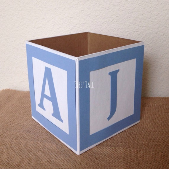 Baby Block Toy Box : Baby shower alphabet block centerpiece sip
