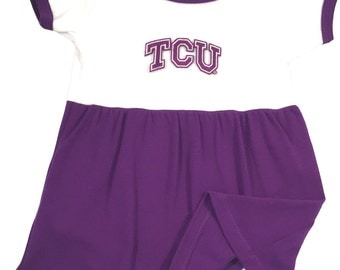 Texas Christian TCU Baby Bodysuit Dress
