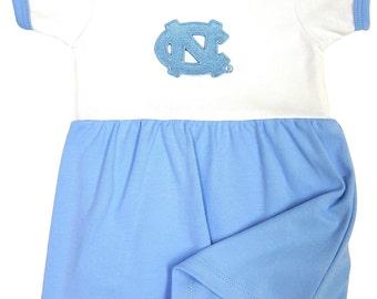 North Carolina Tar Heel Baby Bodysuit Dress