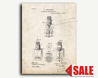Patent Art - Automatic Fire Sprinkler Patent Wall Art Print