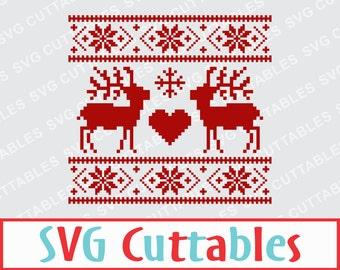 Christmas svg, Christmas Sweater SVG, EPS, DXF, Christmas Sweater cut file, Silhouette, Cricut cut file, Digital download