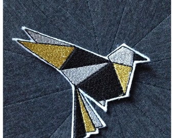 Crest Patch applies bird Origami money and gold