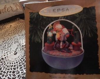 Vintage Hallmark Home On The Range (1993) Christmas Tree Ornament