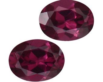 Purple Garnet Oval Cut Set of 2 Loose Gemstones 1A Quality 4x3mm TGW 0.40 cts.