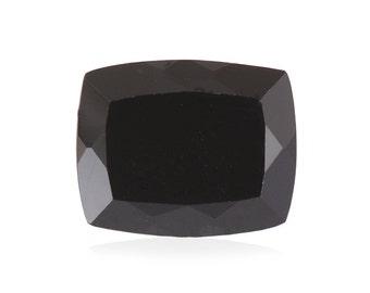 Thai Black Spinel Cushion Cut Loose Gemstone 1A Quality 12x10mm TGW 3.50 cts.