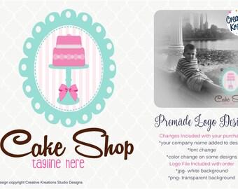 Premade Bake Shop Whisk Bakers Bakery Logo Cake Logo Design Boutique Logo Watermark Cupcake Logo Cake Logo Cookie Logo Branding Logo