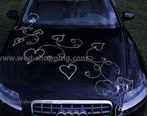 Rattan hearts with twigs to decorate wedding car DEK1200
