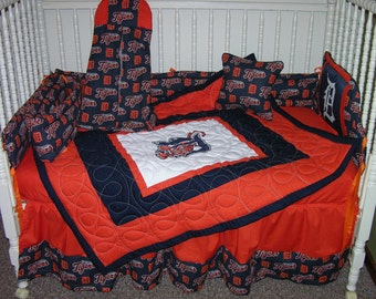 Crib Bedding Set m/w Detroit Tigers Fabric