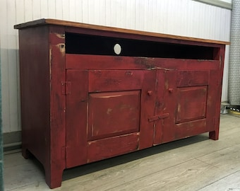 Distressed Shaker Style Entertainment Center