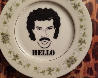 Lionel Ritchie Hello  appetizer  plate