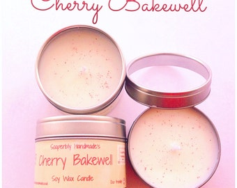 Cherry Bakewell, Soy wax candle, Cherry scented candle, Room fragrance