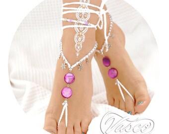 White Barefoot Sandals. Destination Wedding. Beach Wedding Bride