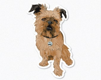 Digby - Griffon Dog - Colored Vinyl Decal Sticker