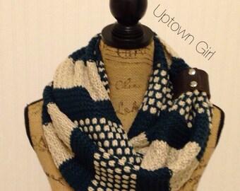 Womens Knit Infinity Scarf, Womens Knit Winter Infinity Scarves, Knit Scarfs, Knit Scarves, Knit Infinity Scarves, Knit Scarves