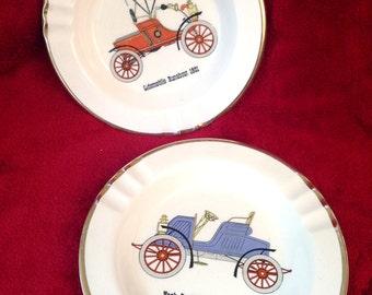 Leath's Ceramic Ashtray - Classic Car Ashtray - Set of two