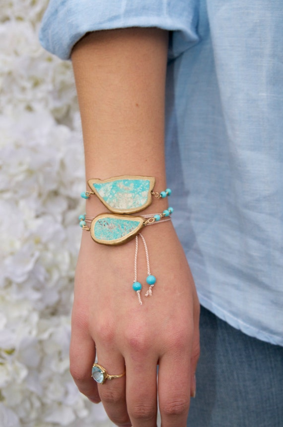 Gorgeous turquoise wrap bracelet