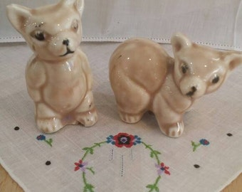 Way too Cute! 1940's Bear Salt and Pepper Shakers