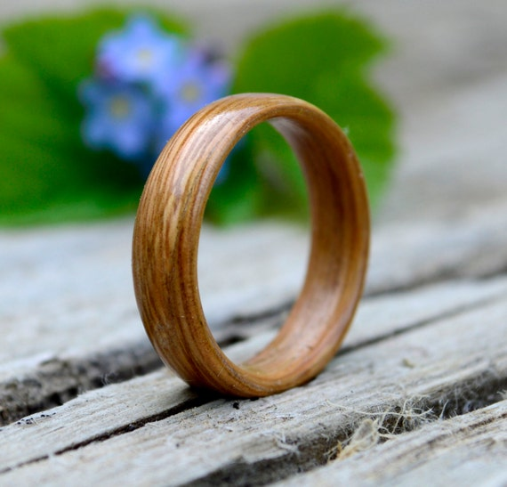 Size 12 - Unisex Buckthorn wooden ring // wedding ring  // Bentwood ring made from Buckthorn