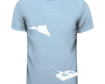 Book & fly, T-Shirt, light blue