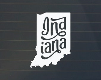 Indiana Car Decal - Indiana Decal - Indiana Sticker