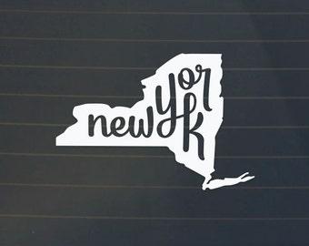 New York Car Decal - New York Sticker - Car Decal
