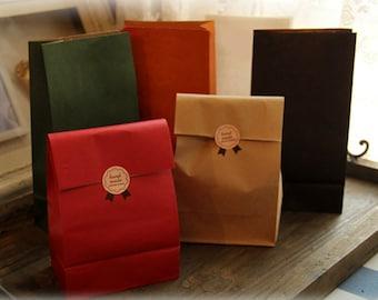 100 (small) Kraft Paper Bags - Colour Kraft Packaging
