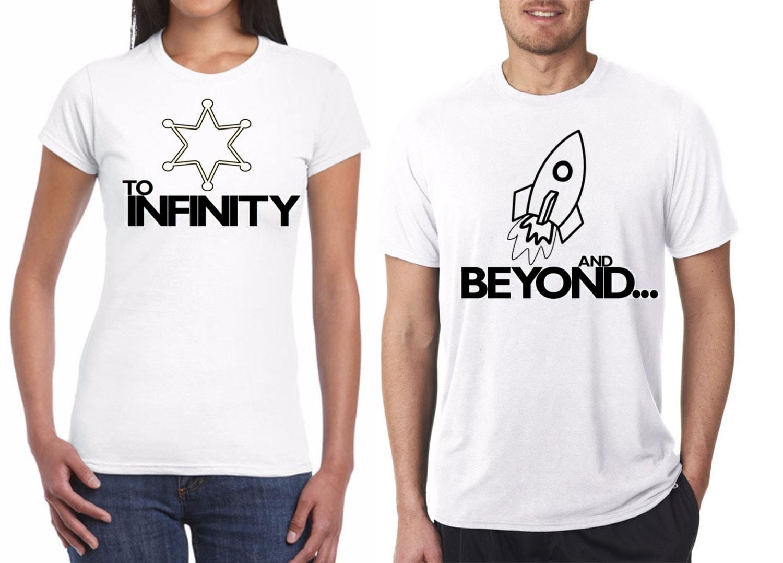 Couple Shirt Infinity Design | Couple Shirts Infinity Design Cartoon Moustache Design Cute Short