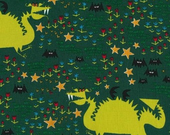 Dragons, Happy Drawing Collection by Ed Emberley for Cloud 9 Organic Fabrics