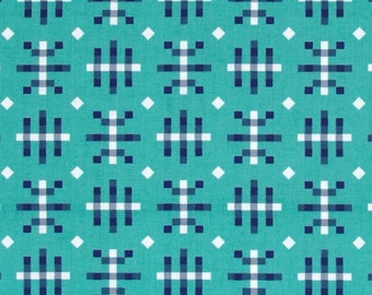 Misguided Gingham in Teal, Honor Roll Collection by Anna Maria Horner for Free Spirit