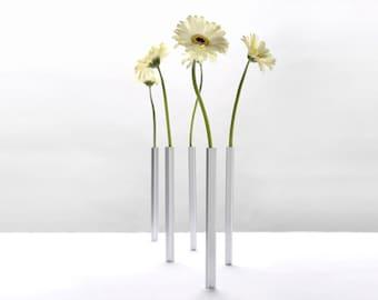 Magnetic Vase- Designed vases- -5 Aluminum Vases  by Peleg Design