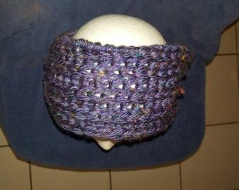 Headband/ Earwarmer Blue/purplish tweed
