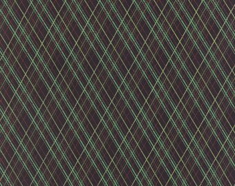 Cotton Quilt Fabric by the yard, Juniper Berry- Workshop Plaid in Black by Basic Grey for Moda Fabrics, Plaid Christmas Fabric, 30438 15